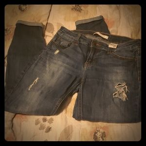Torn ankle jeans Eunina
